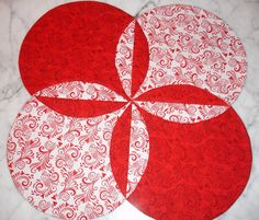 Table Runner Quilt Table Topper Centerpiece  Red by KeriQuilts, $36.00