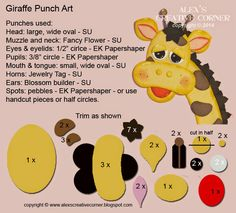 Alex's Creative Corner: Giraffe Punch Art Instructions