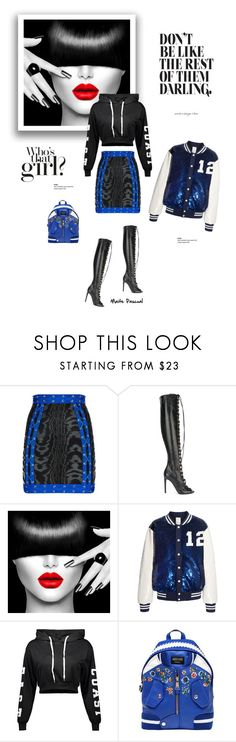 """""""Who's that girl? 25.02.17"""" by maitepascual ❤ liked on Polyvore featuring Balmain, Giambattista Valli, Ashish, Moschino and whoisthatgirl"""