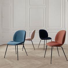 Gubi Beetle Dining Chair - Metal Leg Base