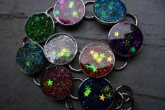 Silent & Starry Night Resin Bracelet by MamaCassQueen on Etsy, $20.00