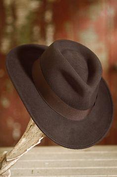 9ea6ebd5fa2 Indiana Jones Crushable Wool Fedora Hat