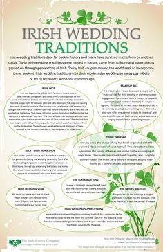 Wedding irish wedding traditions info graphic - Irish wedding traditions date far back in history and many have survived in one form or another today. These Irish wedding traditions were rooted in nature came from folklore and superstitions for … Irish Wedding Traditions, Irish Christmas Traditions, Bridal Traditions, Dream Wedding, Wedding Day, Wedding Hacks, Wedding Quotes, Blue Wedding, Trendy Wedding