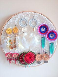 Unique Set of 6 / Boho Earrings 6 Pack / Boho Earrings Set / Crochet Earring / Hippie / Gypsy Style / Boho Style / Boho Chic / Gypsy Chic