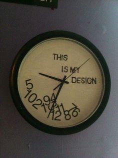 I like. This is my design. #Hannibal #WillGraham #clock
