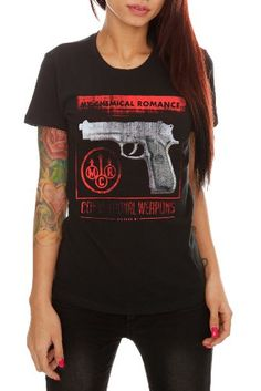 My Chemical Romance Conventional Weapons..school would never let me wear this, but I would.