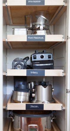 Creative Appliances Storage Ideas For Small Kitchens | Kitchen ...