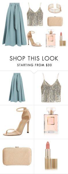"""New Year's Eve"" by jessica-castrooo on Polyvore featuring Temperley London, Alice + Olivia, Stuart Weitzman, Chanel, John Lewis and L'Oréal Paris"