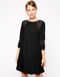 swing dress with lace inserts / asos
