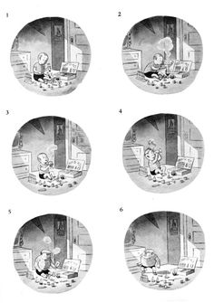 As a kid I used to page through my mom's collections of Charles Addams cartoons. They haunted and fascinated me. Looking at them was/is like entering not a world, but a room–with a particular kind of light and a weird staticky sound in the distance.This one got to me in particular–especially panel #7. He's so worried and hideous at the sound of his mother coming. Who am I kidding–it STILL gets to me. All with no sound, symbols, or words–just pure expression and ges... Charles Addams, Peanuts, Distance, Summer, Weird, Cartoons, Collections, Symbols, Pure Products