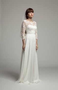 Melanie Potro Bridal Couture Sample Sale coming up in London from Wedding Dresses 2014, Stunning Wedding Dresses, Designer Wedding Dresses, Wedding Gowns, Ethereal Wedding, Wedding Corset, Wedding Dress Sleeves, Stylish Gown, Mom Dress