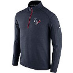 Nike Mens Houston Texans Game Day Half-Zip Long-Sleeve Knit Top
