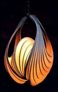 ribbed hanging light