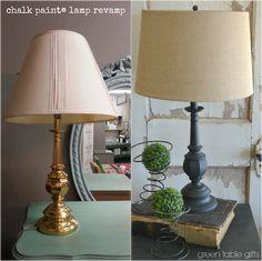 Green Table Mercantile: Chalk Paint® Lamp Revamp