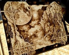 Snowdeer (Kim Sulrok): Woodburning Art (Pyrography) by Snowdeer