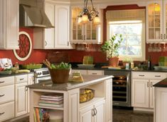 Kitchen Colors with White Cabinet