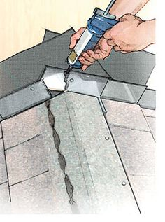 Installing Step Flashing to Prevent Roof Leaks - Fine Homebuilding Liquid Roof, Roof Flashing, Diy Roofing, Roof Trusses, Clay Tiles, Roofing Contractors, Roof Repair, Home Repairs, Home Renovation