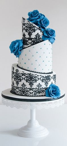 www.cakecoachonline.com - sharing...#Elegant topsy turvey wedding cake - For all your cake decorating supplies, please visit craftcompany.co.uk