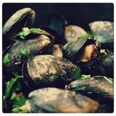 Moules Mariniere French Recipes, French Food, Sprouts, Soup, Fish, Website, Vegetables, Cooking, Cuisine