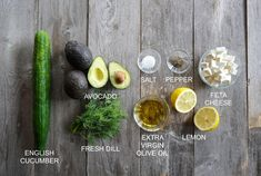 Cucumber, Avocado, Feta Salad - Weekend at the Cottage Easy Chicken Dinner Recipes, Vegetarian Recipes Easy, Healthy Salad Recipes, Dairy Free Recipes, Vegetable Recipes, Best Shepherds Pie Recipe, Appetizer Salads, Appetizers, Roasted Garlic Hummus