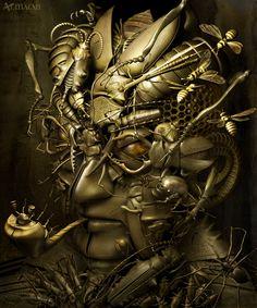 Kazuhiko (use of mechanical forms in art)