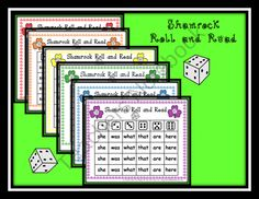 Shamrock Roll and Read product from Can-You-Read-It on TeachersNotebook.com