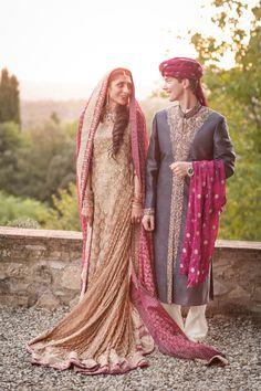 Pakistani Fusion Destination Wedding in Tuscany (Italy)Bridal by Sana SafinazPhotography by Rosapaola Lucibelli