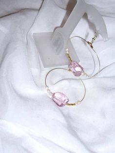 Κρίκοι με ροζ κρύσταλλα και μικρά μαργαριταράκια Earrings with pink crystal beads and pearls Κωδικός/code: 01023/1 Τιμή/price:11 € Fall Winter 2014, Hoop Earrings, Spring, Jewelry, Summer, Jewlery, Summer Time, Jewerly, Schmuck