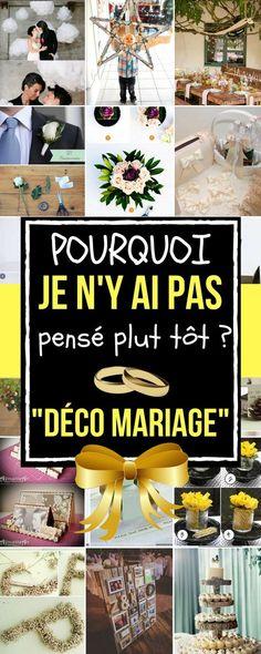 Je pense que les décorations de mariage doivent être à la fois romantiques et uniques. Ce qui n'est pas toujours facile. C'est un jour particulier où tout se doit d'être parfait ! Après tout, on ne se marie pas tous les jours En parlant de décorations de mariage, il existe beaucoup de choses que vous pouvez réaliser vous-même. En plus, en terme financier, vous n'aurez pas à dépenser beaucoup d'argent. Vive le DIY ! #mariage #decoration #idéesdéco #déco #mariagediy #chasseursdastuces