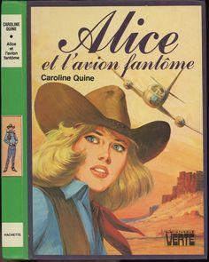 Jean Sidobre - Alice et l'avion fantôme (Nancy Drew), Caroline Quine (Carolyn Keene), Hachette Bibliothèque Verte 1982