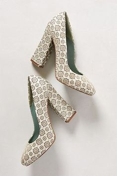 Surface Figure Heels #anthropologie These are way too tall for me... but they're beautiful!