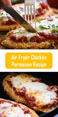 Air Fryér Chickén Parmesan Recipe ingredients 2 to 8 ounces of chicken breasts ¼ c. grated Parmesan cheese without grated . New Recipes, Cooking Recipes, Healthy Recipes, Easy Recipes, Cooking Food, Recipies, Air Fryer Oven Recipes, Easy Meals For Two, Good Food