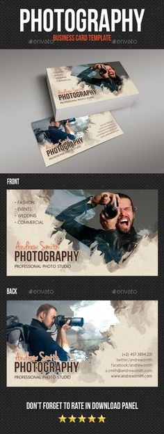 Photography Studio Business Card V06 - Creative Business Cards Download here : https://graphicriver.net/item/photography-studio-business-card-v06/19118807?s_rank=174&ref=Al-fatih