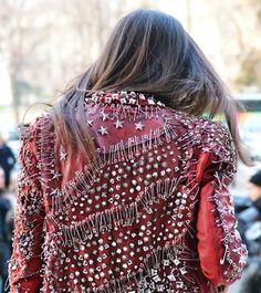 Balmain | Studded Red Jacket