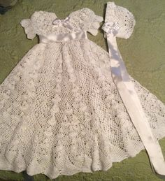 Baby Christening Gown Pattern - crochet heirloom vintage style by EmporiumHouse, Halina Matson designer $10.00
