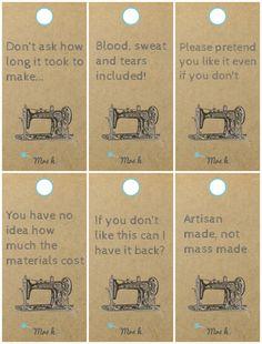 Handmade Gift Tags for Handmade Gifts