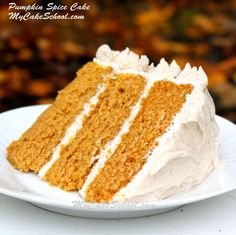 Pumpkin Spice Cake~ {Scratch Recipe}