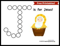 J is for Jesus (free printables!). -Repinned by Totetude.com