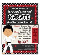 Karate Birthday Invitations Choice Image Invitation Templates Free