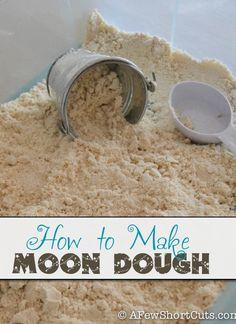 Learn How to Make Moon Dough #kids #summerfun