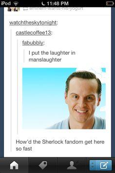 That's what Sherlockians DOOOO!!! <-- I love the quick response of the Sherlockians.
