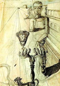 Salvador Dali. The invisible man 1929