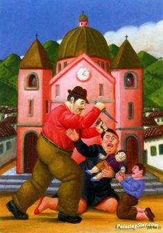 The Killing of the Innocents Artwork by Fernando Botero Hand-painted and Art Prints on canvas for sale,you can custom the size and frame