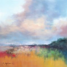 Painted Fields by K. Lapira Painting Print on Wrapped Canvas