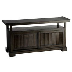 """Fung TV Stand - Brown sale 279.99$ pine and mixed woods; 46.75W x 13.75D x 23.75H says max tw size = 40"""" would have to hang on wall and have underneath tv :)"""