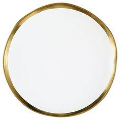 Dark Romance large gilt ceramic plate