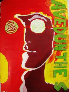 Sixties Poster (Acrylic and Mixed Media)
