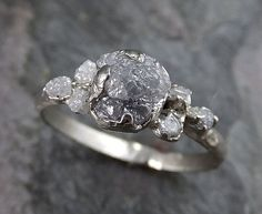 Hey, I found this really awesome Etsy listing at https://www.etsy.com/listing/478970659/raw-diamond-white-gold-engagement-ring