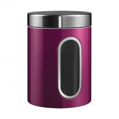 Wesco Canister with Window - purple