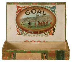 Goals Football, Wooden Cigar Boxes, Basketball Court, Basketball Rules, Basketball Legends, Vintage Football, Old Maps, Tin Boxes, Cigars